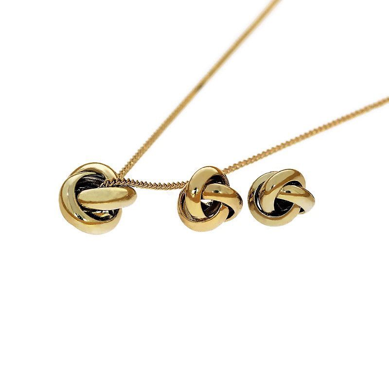 Sada náušnice a náhrdelník uzlíky 2