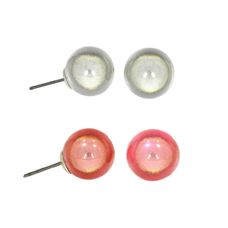 Bílé a růžové metalické perličky