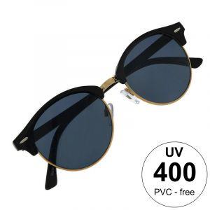 Kulaté brýle s tmavěmodrými čočkami