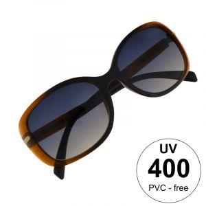 Hnědé duhové maxi brýle