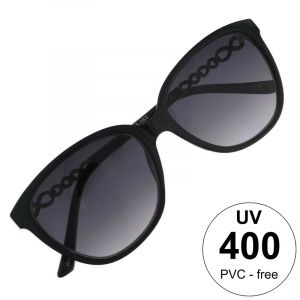 Černé brýle s ozdobným pokovením