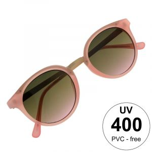 Kulaté růžové brýle se zlatými stránicemi