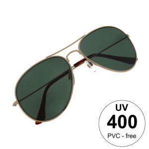 Stříbrné pilotky se zelenými skly