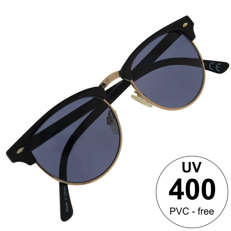 Kulaté brýle s modrými čočkami a výrazným poloorámováním GIIL