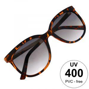 Sluneční brýle v tygrovaném vzoru s pokovením stránic