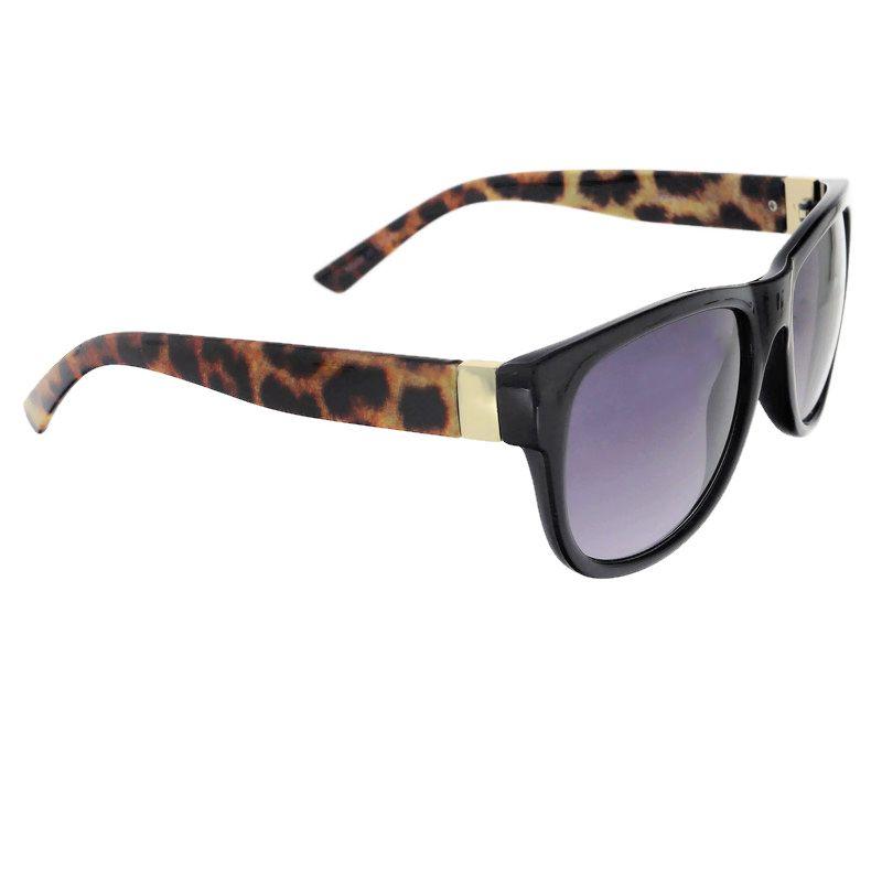 Černé brýle s tygrovanými stránicemi