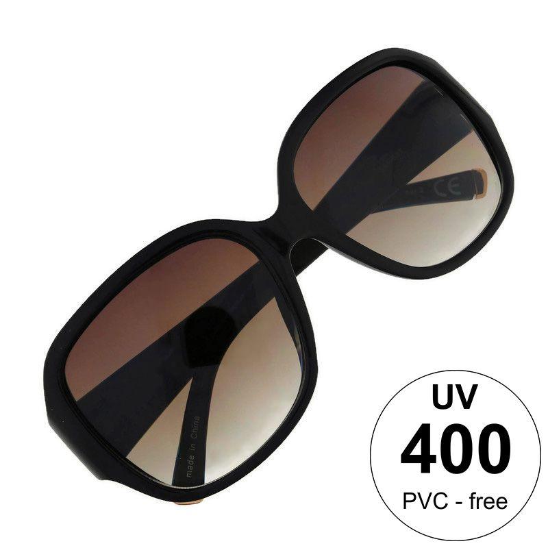 Černé maxi brýle s gradientem čoček
