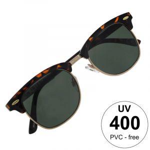 Poloobrubové brýle v barvě safari