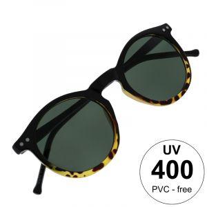 kulaté brýle s černotygrovanou obrubou