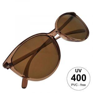 Žlutohnědé maxi brýle