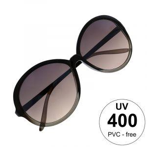 Nadrozměrné černošedé brýle