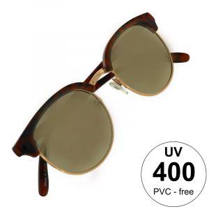 Brýle s poloobrubou v barvě želvoviny