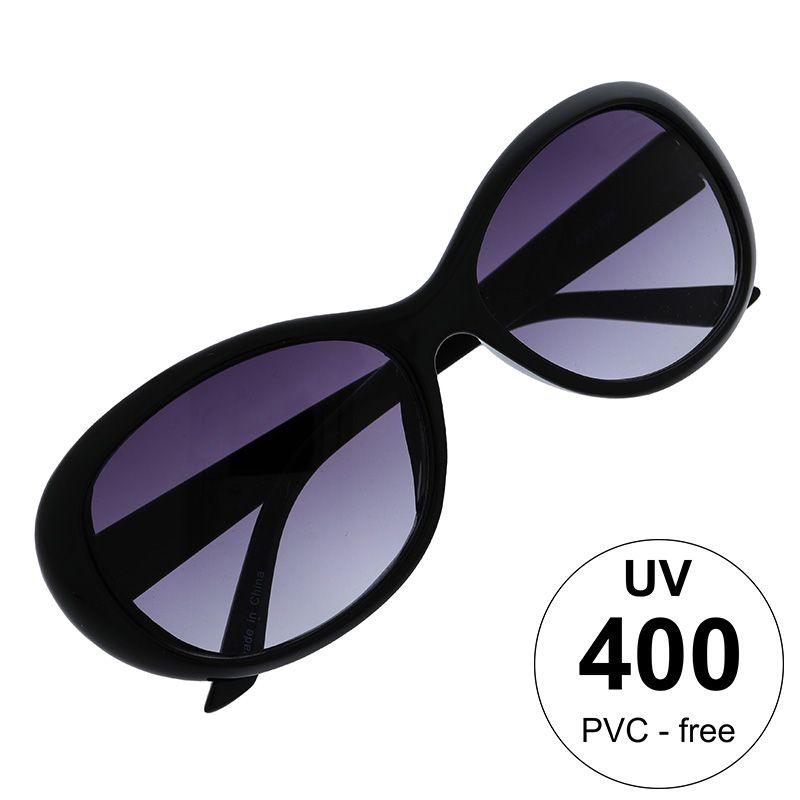 Černé brýle s fialovými skly