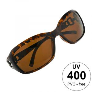 Hnědé leopardí brýle s ozdobou na stránici