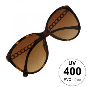 Brýle hnědé s ozdobným pokovením stránic