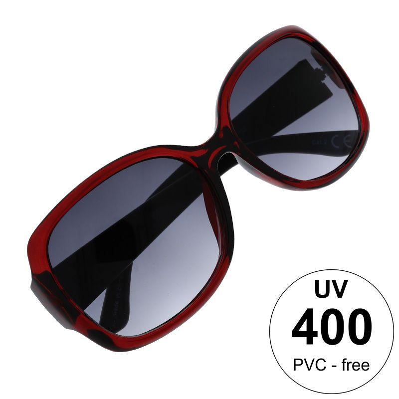 Vínové nadrozměrné brýle