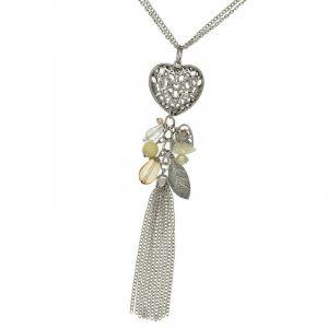 Dlouhé srdce na náhrdelníku