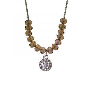 Jemný korálkový náhrdelník s kamínkem