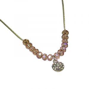 Jemný korálkový náhrdelník s kamínkem 2