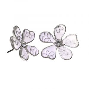Náušnice květ s kamínkem