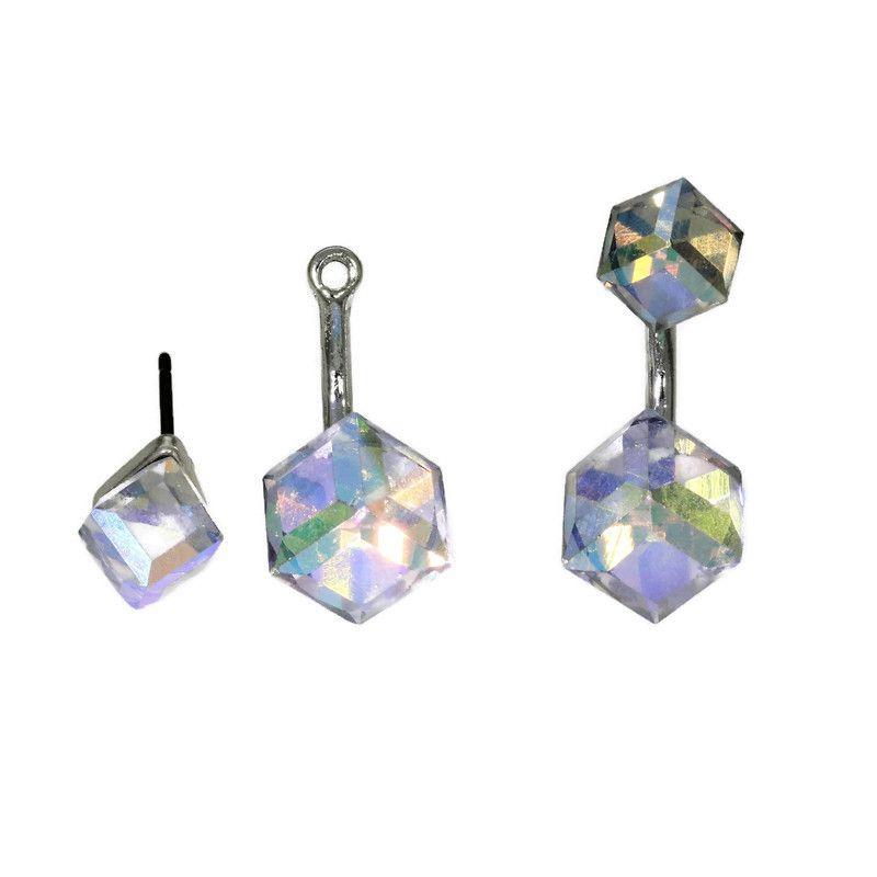 Náušnice pod ucho s krystaly