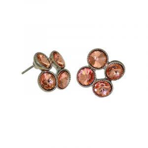 Růžové kamínkové čtverečky, pecky