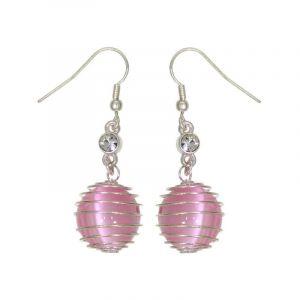 Růžové kuličkové drátěné perličky