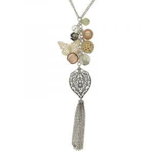 Růžový náhrdelník s kosočtvercem