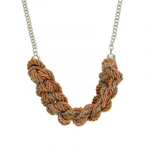 Růžový uzlovitý náhrdelník 2