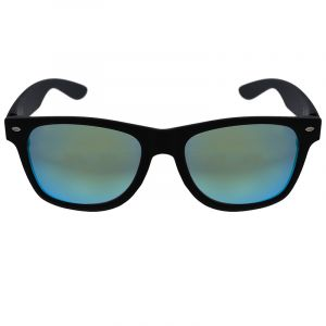 Černé hranaté brýle s modrými skly