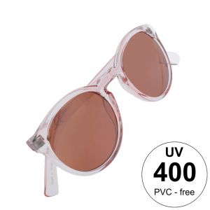 transparentní brýle s růžovými skly