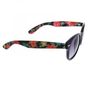 Černé brýle s květinovými stránicemi