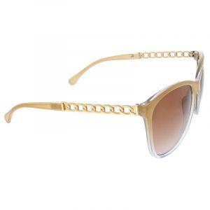 Hnědé brýle se zlatým pokovením stránic