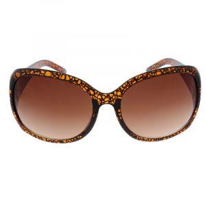 Hnědé vzorované brýle se širokou stránicí GIIL