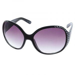 Černé retro brýle s kamínky