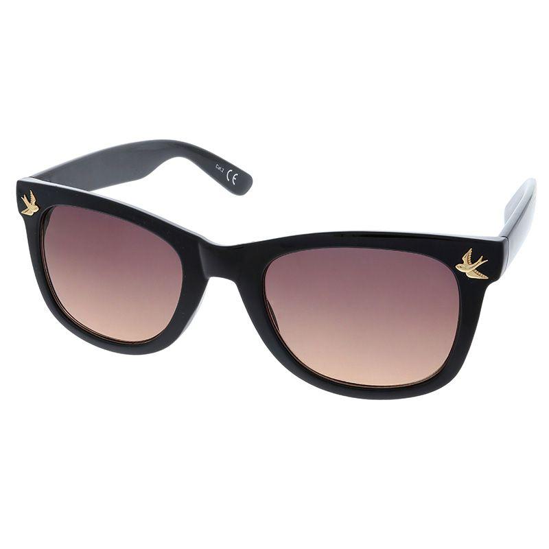 Černé brýle s detailem holubičky