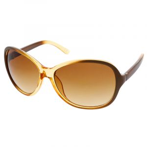 Hnědožluté nadrozměrné brýle