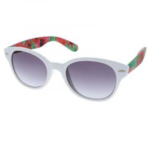 Bílé brýle s květinovým vzorem na stránici