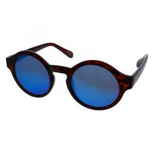 Hnědé tygrované brýle s modrými skly