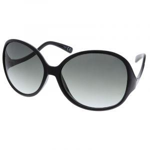 Černé retro maxi sluneční brýle Giil