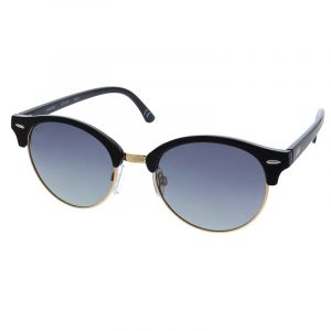 Polarizační brýle kulaté s černou poloobrubou