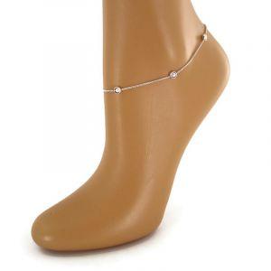 Jemný náramek na nohu s perličkami