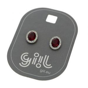 Malé luxusní náušničky s červeným kamínkem