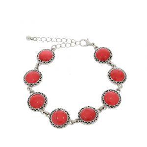 Náramek s červenými kruhy