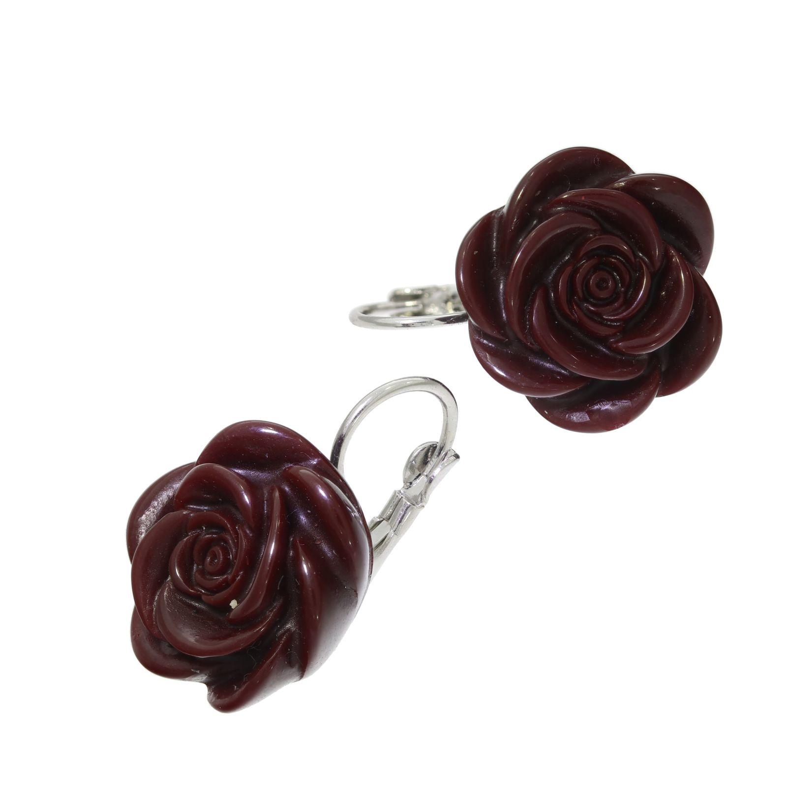Náušnice Vínové růže
