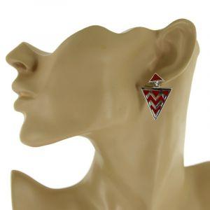 Trojúhelníkové extravagantní náušnice GIIL