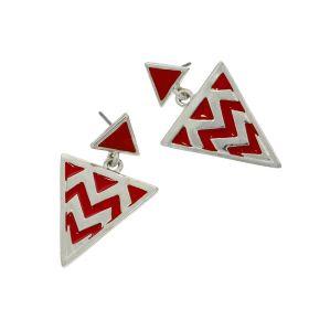 Trojúhelníkové extravagantní náušnice