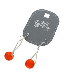 Visací náušnice s červenými kuličkami GIIL
