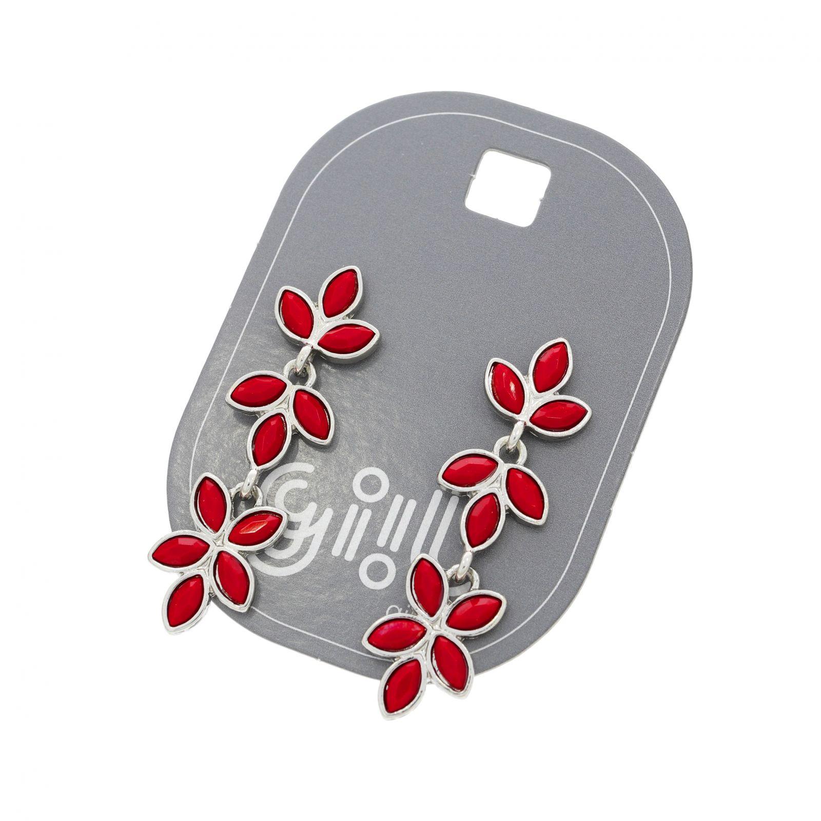 Visací náušnice z červených lístků GIIL