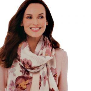 Skládaný šátek s květinami 3